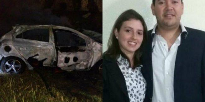 Encuentran muerta a una mujer: su novio fue calcinado en su auto