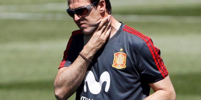 Despiden a Lopetegui, el DT de la Selección española a un días del Mundial
