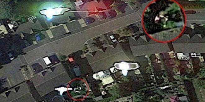 Google Earth captó el momento justo cuando extraterrestres lo secuestraron