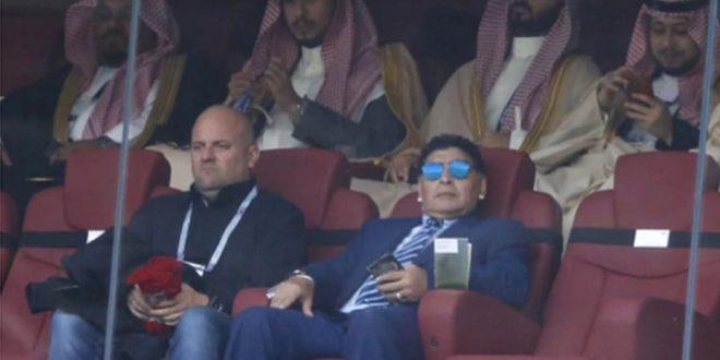 Maradona en el partido inaugural del Mundial