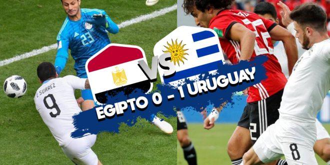 Uruguay venció a Egipto en su debut en el Mundial