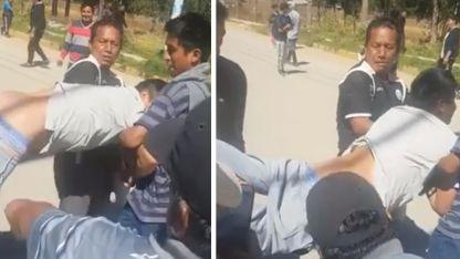 Video: No quiso adherir al paro y lo castigaron a latigazos