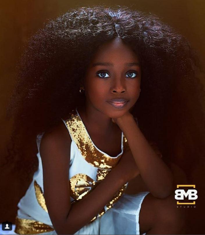 Jare, la nena nigeriana que se convirtió en la más hermosa del mundo