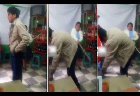 Video: Mujer golpeada por su marido con 21 patadas lo castiga con 21 latigazos