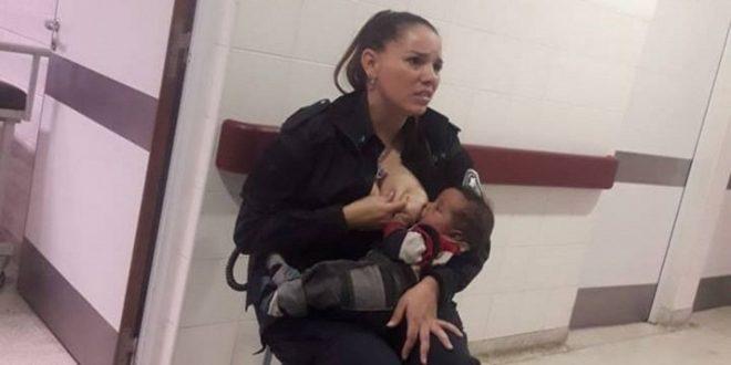 Habló la policía que amamantó al bebé