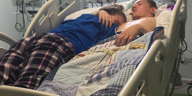Su novio tuvo un accidente y la desgarradora foto de la despedida recorrió el mundo