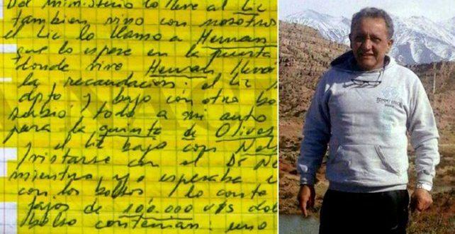 Oscar Centeno, exchofer de Baratta, declaró y confirmó que son suyos los cuadernos donde registó las presuntas coimas