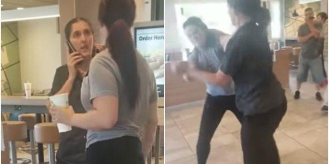 Video: Pelea entre una empleada de McDonald's y una clienta