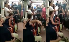 Video : España: una mujer le negó el asiento a una nena por ser emigrante en el subte