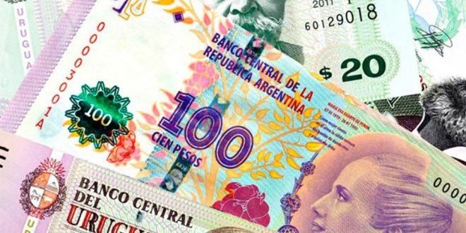 Por primera vez en la historia el peso argentino vale menos que el uruguayo
