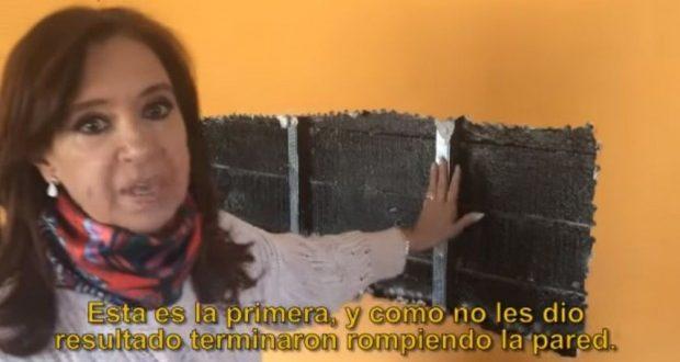 Video: Cristina Kirchner mostro como quedo su casa en el Calafate tras el allanamiento
