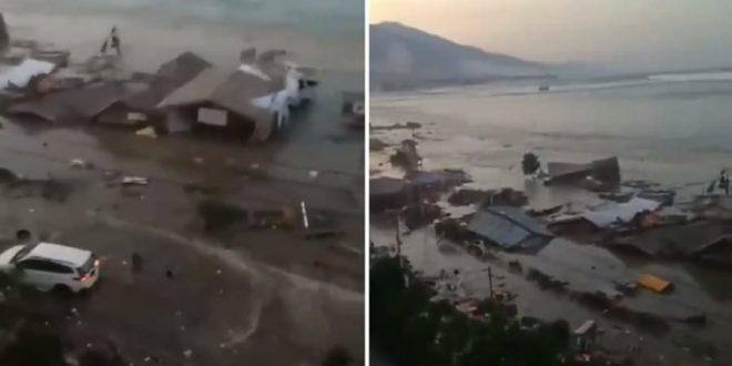 Terremoto y tsunami en Indonesia. Mas de 400 muertos. Cadáveres cerca del mar, oscuridad y pánico