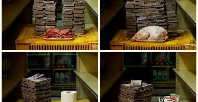 Las fotos del costo de la canasta básica en Venezuela