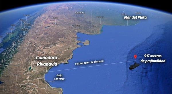 Encontraron el submarino ARA San Juan a 917 mts.