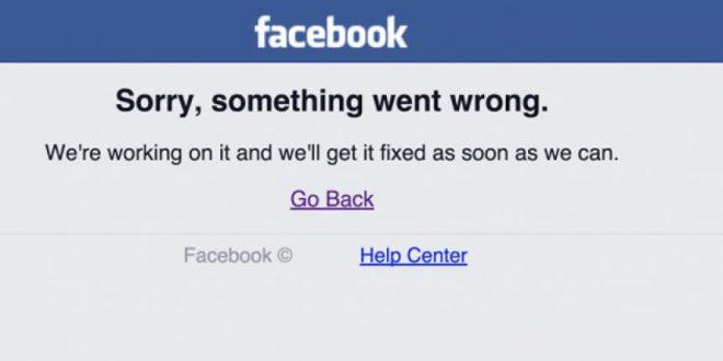 Facebook tuvo una caida a nivel mundial