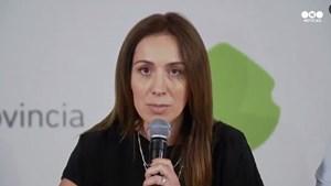 Vidal anunció un bono de 7 mil pesos para los trabajadores bonaerenses
