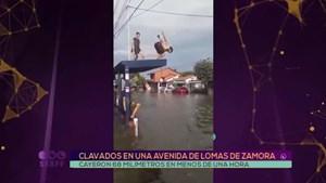 Clavados en una avenida de Lomas de Zamora