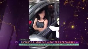 Encerró a su hija en el auto y se fue de compras