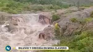 Inundaciones en Córdoba por lluvia récord y crecida del río Mina Clavero
