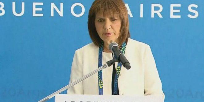 """Patricia Bullrich: """"Logramos que la manifestación contra el G20 haya sido en paz"""""""