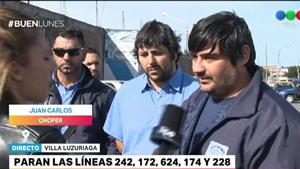 """Los compañeros del colectivero baleado: """"No queremos otro Leandro, queremos seguridad"""""""