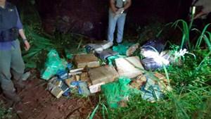 Misiones: encontraron 339 kilos de marihuana abandonados en el monte