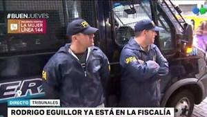 Trasladaron a Rodrigo Eguillor a los tribunales para que declare