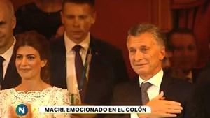Las lágrimas de Macri en el cierre de la gala del Colón