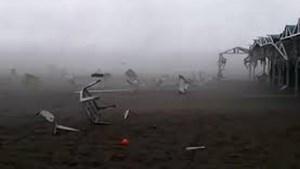 Video escalofriante: el terrible tornado que azotó Pinamar y arrasó carpas
