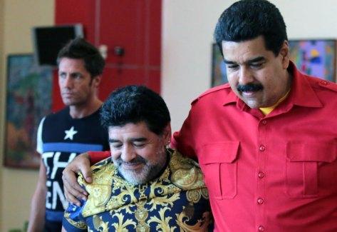 Maradona ratificó su respaldo a Nicolás Maduro