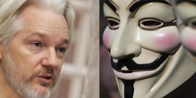 """Anonymous: """"Liberen a Julian Assange o lo pagarán"""""""