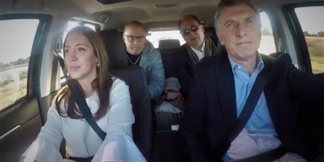 Video: Macri manejando con Vidal por la ruta 205