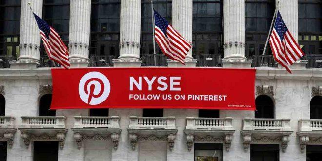 Pinterest debutó en la bolsa de Nueva York ysus acciones se dispararon casi 30%