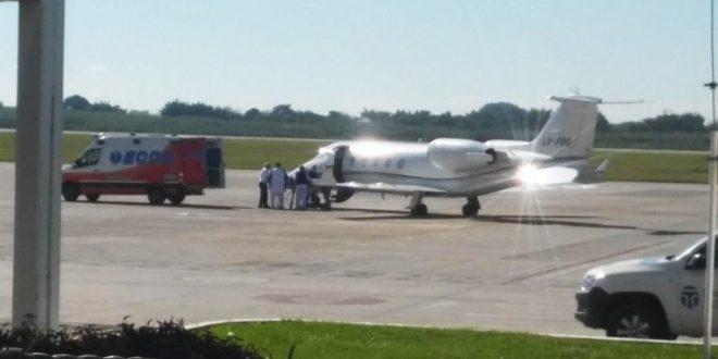 Sergio Denis fue trasladado a Buenos Aires en un avión sanitario