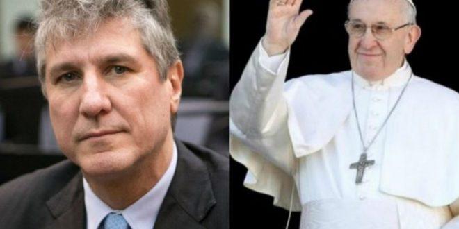 El papa Francisco le envió un rosario a Amado Boudou que esta preso en Ezeiza