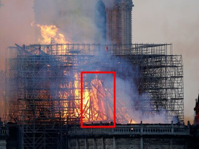 ¿Jesús apareció entre las llamas en el incendio de Notre Dame?