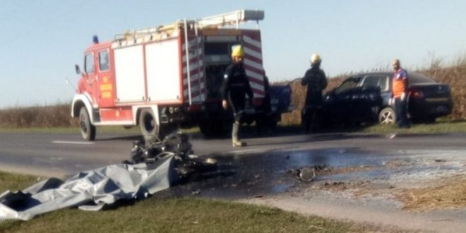 Ex novio de Mónica Farro murió carbonizado tras un accidente en moto