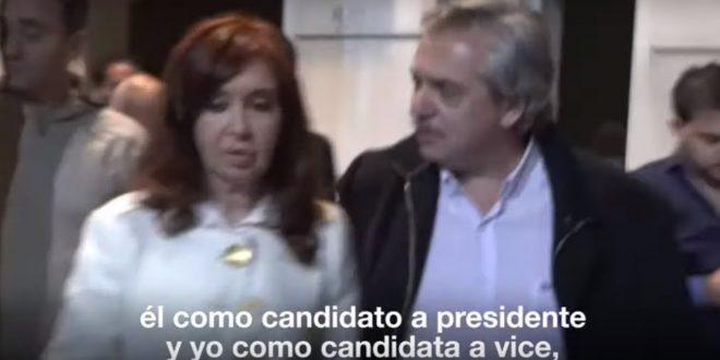 Video : Cristina Kirchner anuncia que no será candidata a presidente