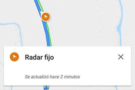 Google Maps ya permite ver la ubicación de los radares de velocidad en todas las rutas del país