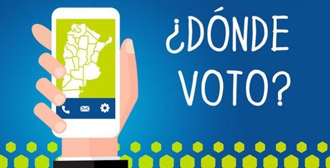 Donde Voto ? Padrón 2019. Consultar lugar de votación