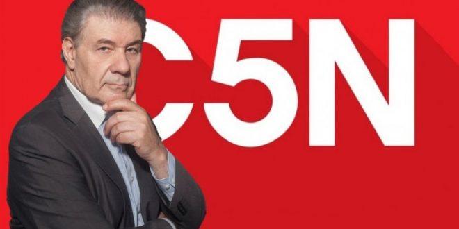Víctor Hugo Morales afuera de de C5N