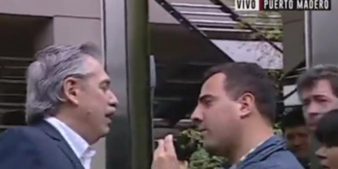 Alberto Fernández se enojó con un periodista que le preguntó por Cristina