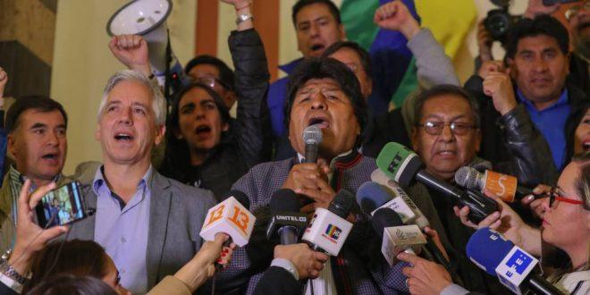 Vergüenza en Bolivia:Cuando faltan computar 2,6% de los votos, está caído el sitio que informa el escrutinio definitivo