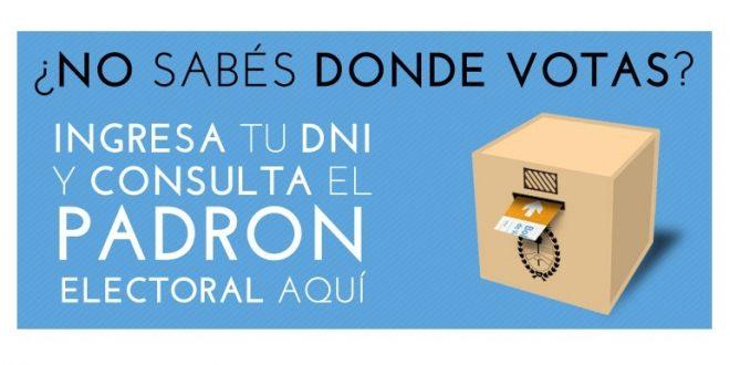 Donde voto el 27 de Octubre? Consultar el lugar de votación.