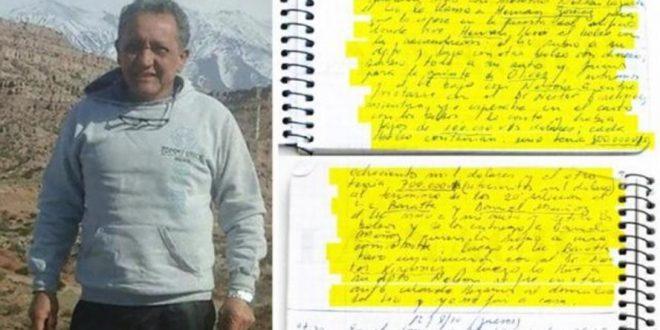 La Justicia confirmó la aparición de 6 cuadernos originales de Oscar Centeno