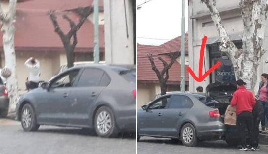 Kicillof se baja de un auto caro en cada ciudad y se sube a un Clio barato para la foto de campaña