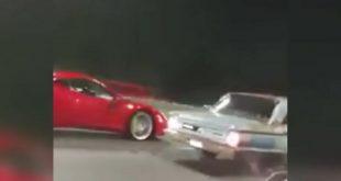 Video: Una Ferrari y un Ford Falcon corrieron una picada en la Panamericana