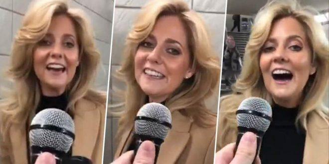 """Video : una mujer sorprende a conductor de TV al cantar """"Shallow"""" de Lady Gaga"""