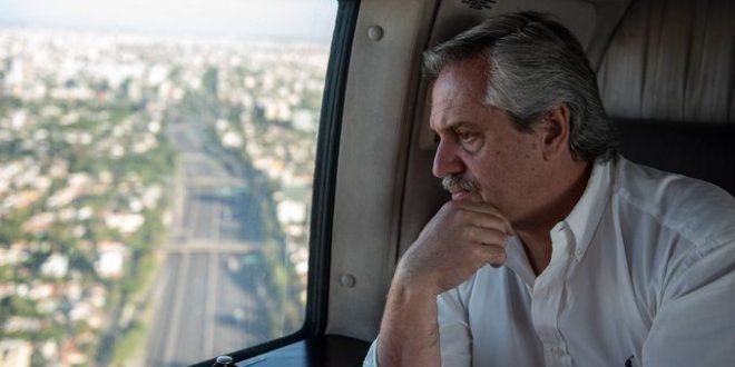 El Presidente Alberto Fernández sobrevoló el AMBA verificando personalmente el cumplimiento de la cuarentena