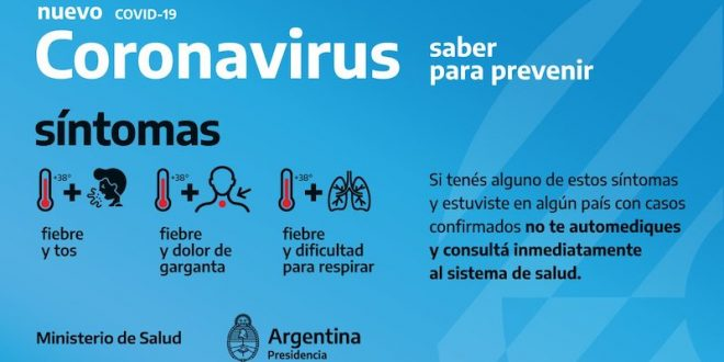 Coronavirus Argentina: 3 nuevas muertes y 69 casos, el total de contagiados asciende a 2.277